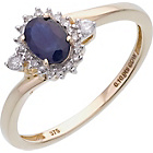 more details on 9ct Gold 0.10ct Diamond Sapphire Cluster Ring.