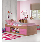 more details on Malibu Pink on Pine Cabin Bed Frame with Bibby Mattress.