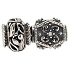 more details on Sterling Silver Antique Leaf Beads - Set of 2.