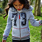 more details on Cherokee Girls' Zip Up Top With Fur Trim Hood.