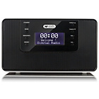 more details on Acoustic Solutions Bluetooth Clock Radio - Silver.
