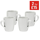 more details on Colourmatch 4 Piece Mugs Set - White.