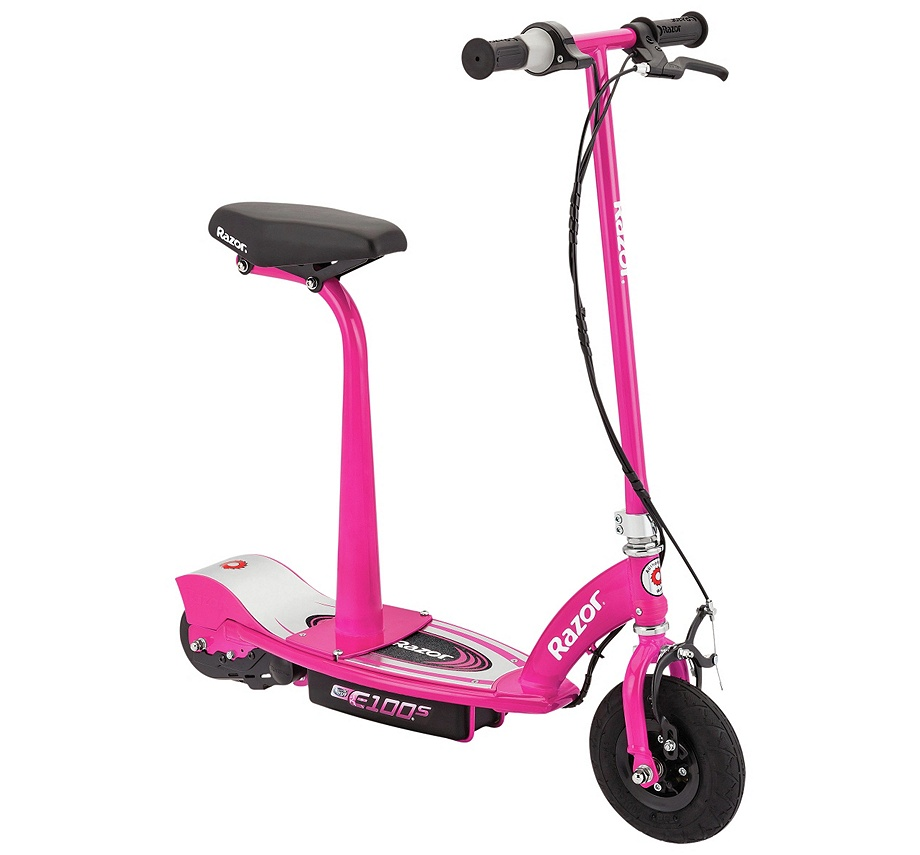 razor e100s push go electric scooter with removable seat. Black Bedroom Furniture Sets. Home Design Ideas
