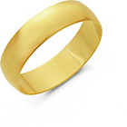 more details on 9ct Gold 5mm D-Shape Wedding Ring.