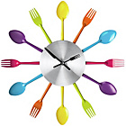 more details on Premier Housewares Coloured Cutlery Wall Clock.