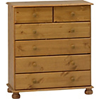 more details on Richmond 2 + 4 Drawer Chest - Antique Pine.