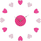 more details on Premier Housewares Pink and White Heart Wall Clock.