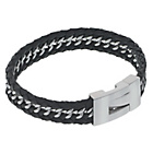 more details on Fred Bennet Leather and Stainless Steel Curb Bracelet.