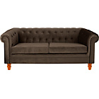 more details on Chesterfield Large Fabric Sofa - Chocolate.