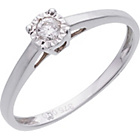 more details on MiracleSparkle 9ct White Gold Illusion 0.10ct Solitaire Ring