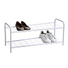 more details on 2 Shelf Shoe Storage Rack - White.