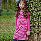 more details on Cherokee Girls' Pink Stripe Dress.