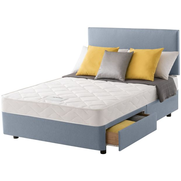 Buy Layezee Calm Micro Quilt Kingsize 2 Drawer Divan Bed At Your Online Shop For