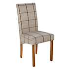 more details on Heart of House Pair of Checked Skirted Dining Chairs.