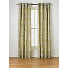 more details on Heart of House Felicity Lined Eyelet Curtains - Green.