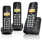 more details on Gigaset A220A X3 Cordless Telephone - Black.