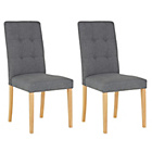 more details on Collection Adaline Pair of Oak Effect Dining Chairs.