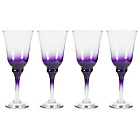 more details on 4 Piece Chunky Wine Glass Set - Purple.