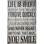 more details on Premier Housewares Life is Short Wall Plaque.