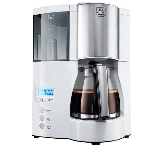 Argos Coffee Maker With Timer : Buy Melitta Optima Timer Filter Coffee Machine - White at Argos.co.uk - Your Online Shop for ...