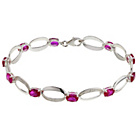 more details on Sterling Silver Cubic Zirconia Ruby Bracelet.