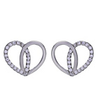 more details on Sterling Silver Cubic Zirconia Large Heart Stud Earrings.