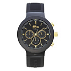 more details on Lacoste Mens' Borneo Black and Gold Chronograph Strap Watch.