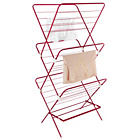 more details on ColourMatch 20m 3 Tier Indoor Clothes Airer - Funky Fuchsia.