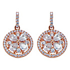 more details on Silver Shimla Cubic Zirconia Flower Earrings.