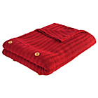 more details on Heart of House Knitted Throw 130 x 180cm - Red.