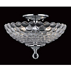 more details on Dallas Glass 2 Bulb Semi Flush Light Fitting - Chrome.