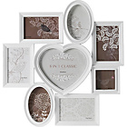 more details on Heart of House 8 Print Aperture Heart Photo Frame - White.