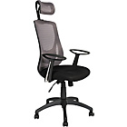 more details on High-Back Gas Lift Eclipse Office Chair - Black/Grey.