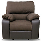 more details on Hudson Fabric Recliner Chair - Chocolate.