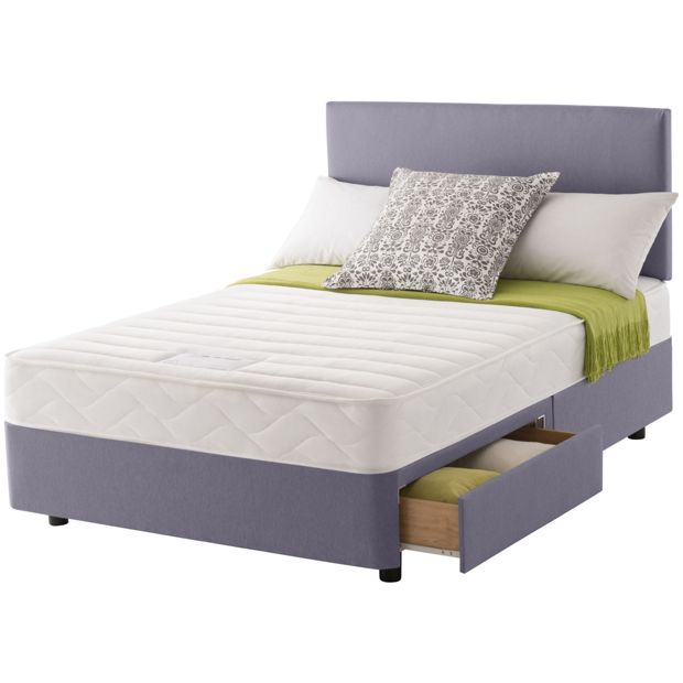 Buy Layezee Calm Memory Micro Quilt Double 2 Drawer Divan