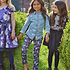 more details on Cherokee Girls' Feather Print Trousers With Belt-9-10 Years.
