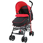 more details on Fisher-Price Pushchair with Footmuff - Black & Red.