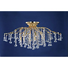 more details on Treviso Crystal Beads 12 Bulb Light Fitting - Gold.
