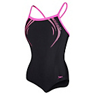 more details on Speedo Sports Logo Swimsuit ‑ Black and Pink.