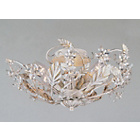 more details on Florence Crystal and Metal Light Fitting - Antique White.