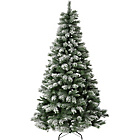 more details on Green Snow Covered Christmas Tree - 7ft