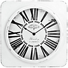 more details on Premier Housewares White Antique Effect Wall Clock.