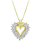 more details on 9ct Yellow Gold Curb Chain 0.50ct Diamond Heart Pendant.