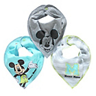 more details on Disney Mickey Mouse 3 Pack of Bibs - One Size.