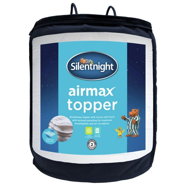buy silentnight airmax mattress topper single at argos. Black Bedroom Furniture Sets. Home Design Ideas