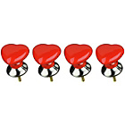 more details on Premier Housewares Set of 4 Red and Cream Heart Drawer Knobs
