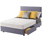 more details on Layezee Calm Micro Quilt Double 2 Drawer Heather Divan Bed.