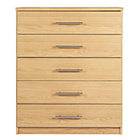 more details on HOME Normandy 5 Drawer Chest - Oak Effect.