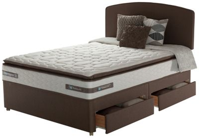 Buy Silentnight Elkin 2000 Pkt Latex Pillowtop Double 4drw Divan At Your Online