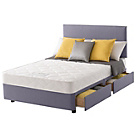 more details on Layezee Calm Micro Quilt Small Double 4 Drawer Divan Bed.